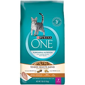 Tender Selects Blend With Real Chicken Dry Cat Food by Purina ONE